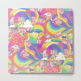 "Vector pattern series of ""Unicorns time"". Art for kids. Metal Print"