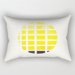 Watercolor Colorful Yellow Minimalist Mid Century Modern Square Matrix Geometric Pattern Round Circl Rectangular Pillow
