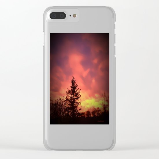 Beautiful Red Sky Clear iPhone Case