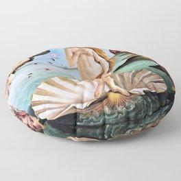 Sandro Botticelli - The Birth Of Venus - Digital Remastered Edition Floor Pillow