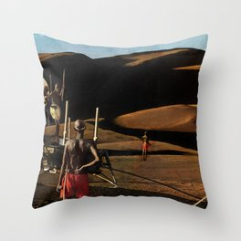 The gods must be crazy | Collage Throw Pillow