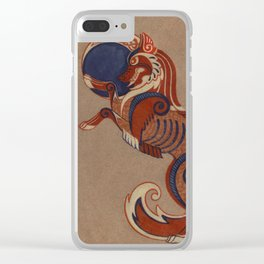 Geri and Freki Clear iPhone Case