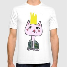 Cat boy Mens Fitted Tee White MEDIUM