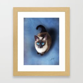 Siamese Cat (Digital Drawing) Framed Art Print