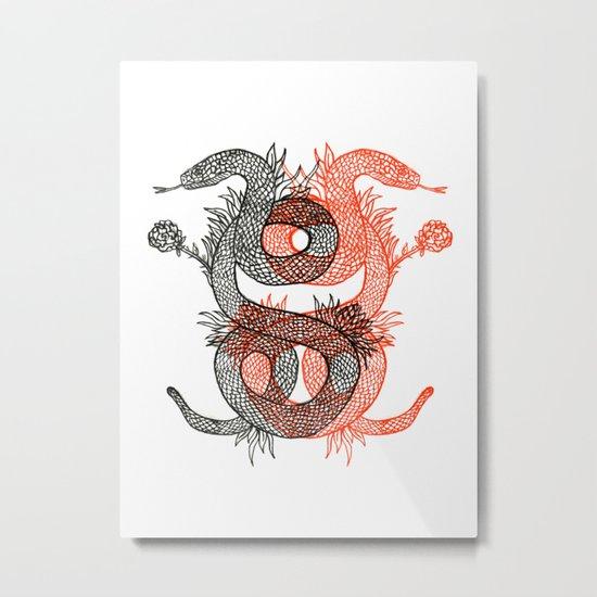 Two Serpents Metal Print