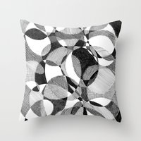 doodle Throw Pillows featuring Doodle by DeMoose_Art