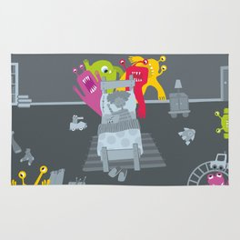 kid and ghosts Rug