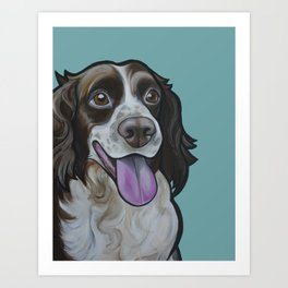 Bea the Springer Spaniel Art Print