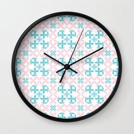 Chain Flowers Seamless Pattern Wall Clock