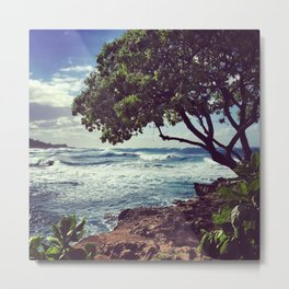 Winter Waves on Hawaii's North Shore Metal Print