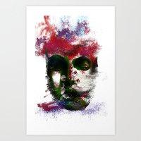 no face Art Prints featuring Face by Marian - Claudiu Bortan