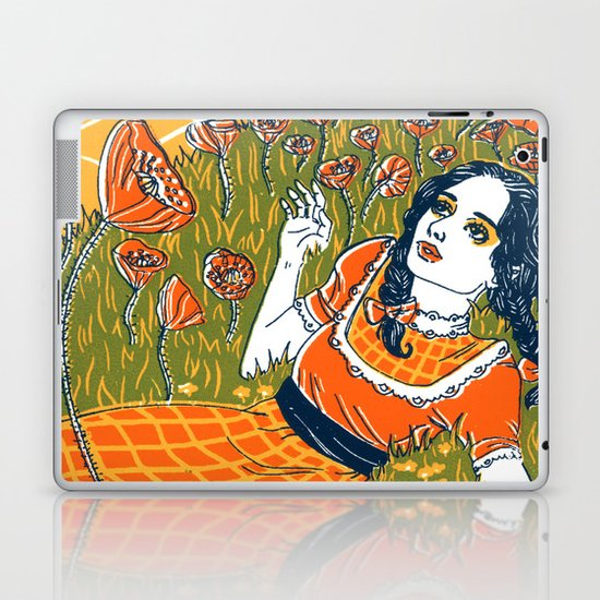 Dorothy in the Poppy Field Laptop & iPad Skin