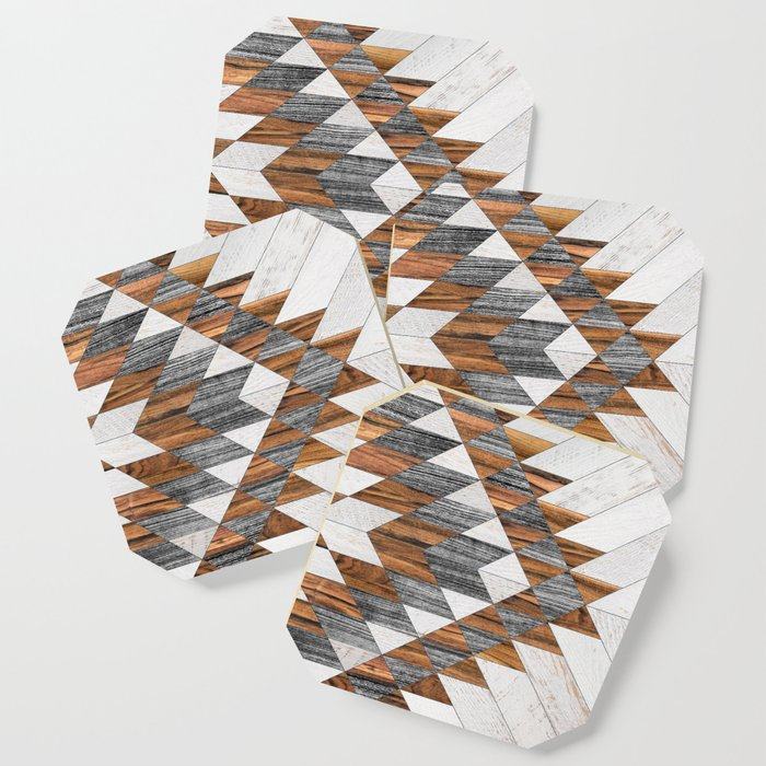 Urban Tribal Pattern 12 - Aztec - Wood Coaster