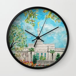 Fresno CA LDS Temple Daylight Wall Clock