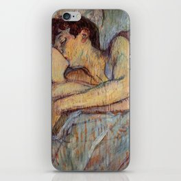 Henri De Toulouse Lautrec In Bed The Kiss Painting iPhone Skin