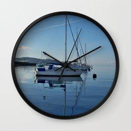 Perfect Morning After Sailing Wall Clock