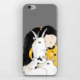 Capricia with Goats iPhone Skin