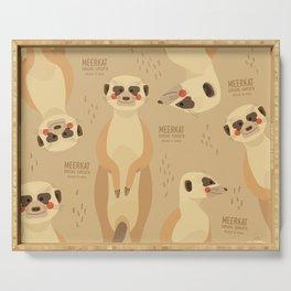 Meerkat, African Wildlife Serving Tray
