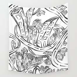 Entangled City Wall Tapestry