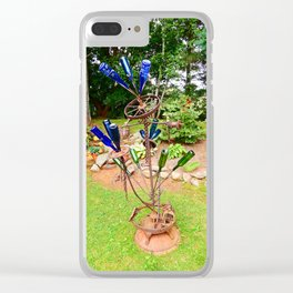 Glass and Steel Garden Art Clear iPhone Case