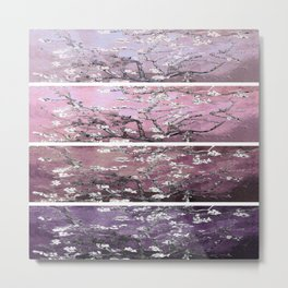 Vincent Van Gogh : Almond Blossoms Panel Art Purple Plum Metal Print