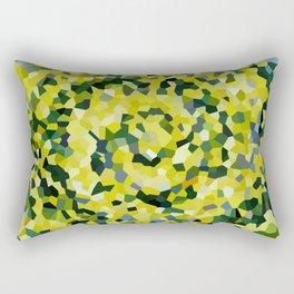 Yellow and Blue Crystallized Swirls Rectangular Pillow