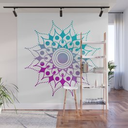 Mandala #2 (Purple Pink Turquiose) Wall Mural