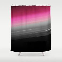 Pink Gray Black Ombre Shower Curtain