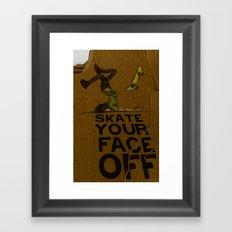 Skate Your Face Off. Framed Art Print