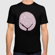 Tree of life - lilac Black Mens Fitted Tee MEDIUM
