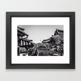 Peeking Through the Lines Framed Art Print