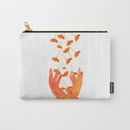 Wonderful Poppy Flowers Orange Coral Color White Background #decor #sociey6 #buyart Carry-All Pouch