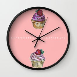 Cupcake confectionery. Wall Clock