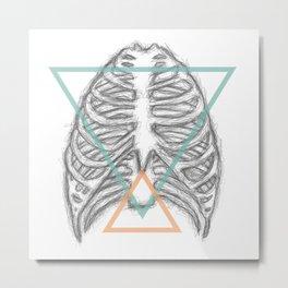 Tri-Ribs Metal Print