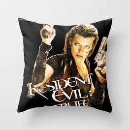 Milla Jovovich Resident Evil Afterlife Throw Pillow