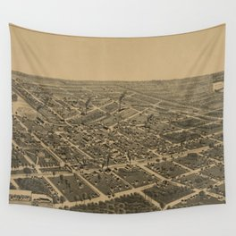 Vintage Pictorial Map of Antigo WI (1886) Wall Tapestry