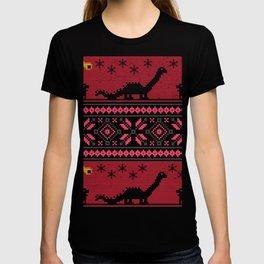 Ugly Christmas Dinosaur Comet Funny Jurassic XMas T-shirt