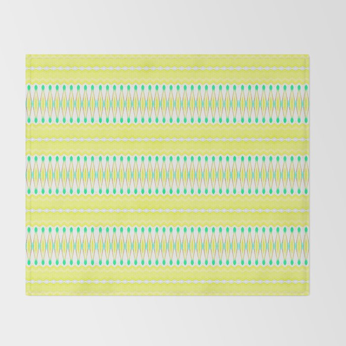 Lemon Lime Throw Blanket