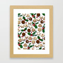 Christmas Treats and Cookies Framed Art Print