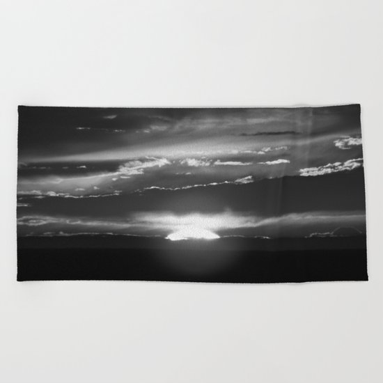 Black and White Delight Beach Towel