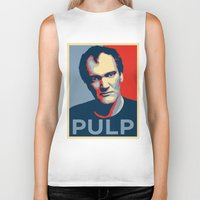 pulp Biker Tanks featuring Pulp! by LilloKaRillo
