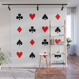Playing cards pattern Wall Mural