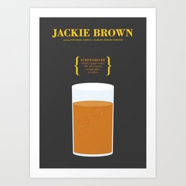 JACKIE BROWN _MOVIE COCKTAIL_Tarantino  Art Print