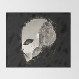 Alien´s Head Throw Blanket