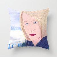 karen hallion Throw Pillows featuring ICE Poster (Karen) by CharlieAmber