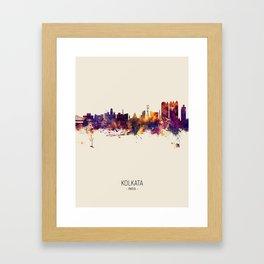 Kolkata (Calcutta) India Skyline Framed Art Print