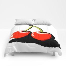 red cherries Comforters