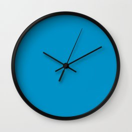 Pacific Blue Color Wall Clock