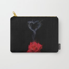 Burning Love - Red Rose Carry-All Pouch