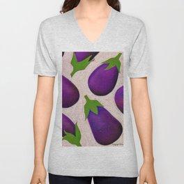 Eggplant Fun Unisex V-Neck